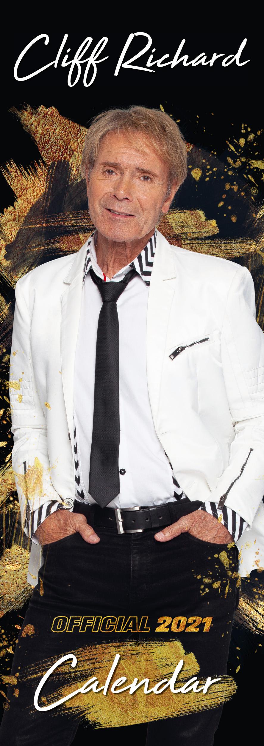 Sir Cliff Richard Official Slim Calendar 2021